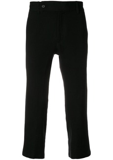 Ann Demeulemeester cropped straight leg trousers - Black