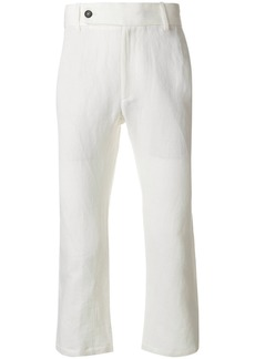 Ann Demeulemeester cropped trousers - White