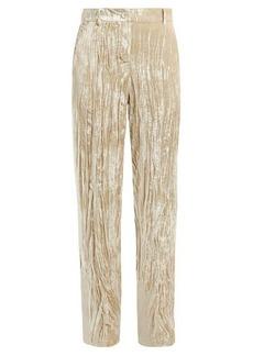 Ann Demeulemeester Crushed-velvet trousers