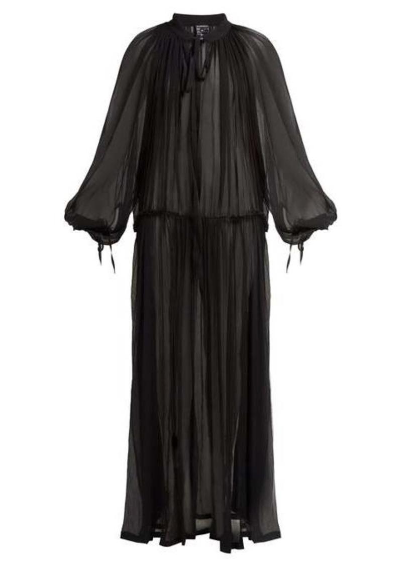 Ann Demeulemeester Cupid sheer silk maxi dress