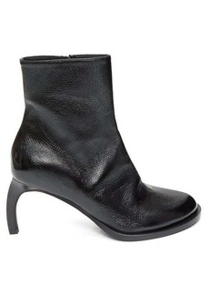 Ann Demeulemeester Curved-heel grained-leather ankle boots