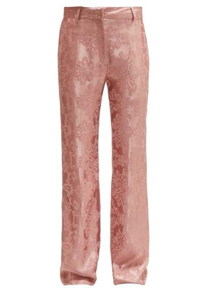 Ann Demeulemeester Daphne floral-jacquard trousers