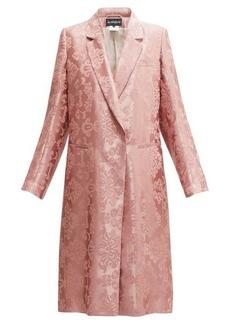 Ann Demeulemeester Daphne rose-jacquard longline coat