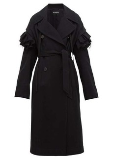 Ann Demeulemeester Detachable frill wool-blend coat
