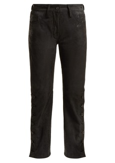 Ann Demeulemeester Distressed leather trousers