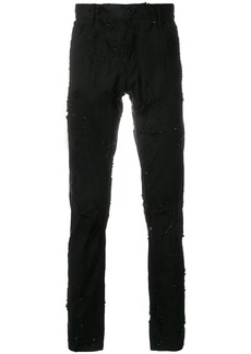 Ann Demeulemeester distressed skinny jeans - Black