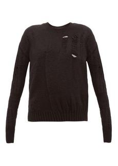 Ann Demeulemeester Distressed wool-blend sweater