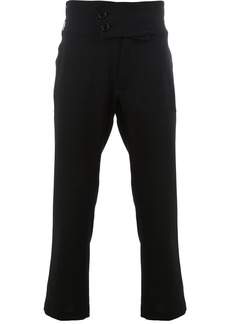 Ann Demeulemeester double-button cropped trousers - Black