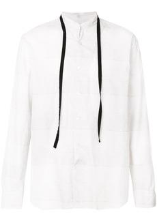 Ann Demeulemeester drawstring long-sleeve shirt - White