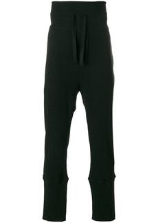 Ann Demeulemeester drawstring track pants - Black