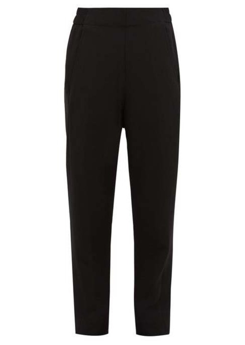 Ann Demeulemeester Elasticated-waist twill cropped trousers