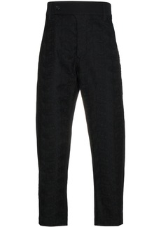 Ann Demeulemeester embroidered cropped trousers - Black