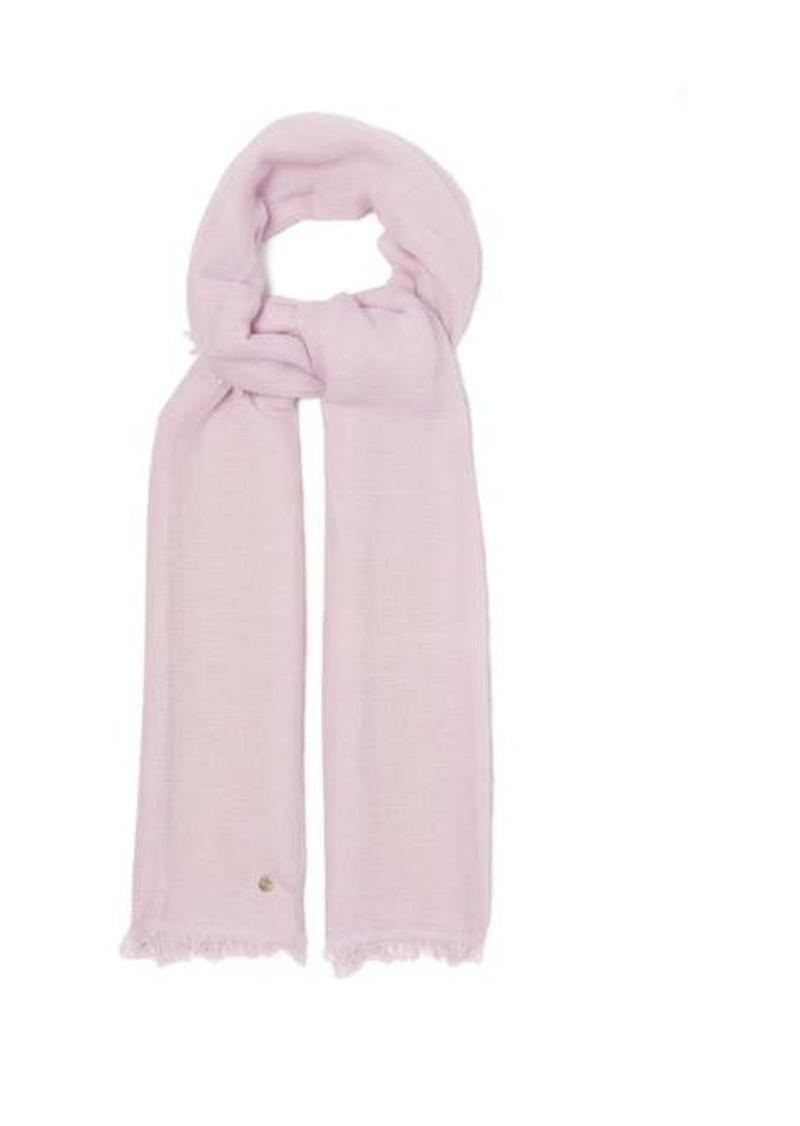 Ann Demeulemeester Eyelash-fringed cashmere scarf