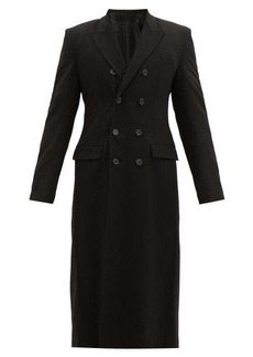 Ann Demeulemeester Fitted-waist double-breasted tweed coat