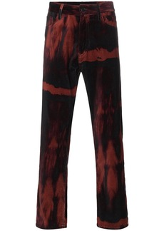 Ann Demeulemeester six pocket cotton velvet trousers - Red