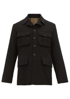 Ann Demeulemeester Flap-pocket wool-blend jacket