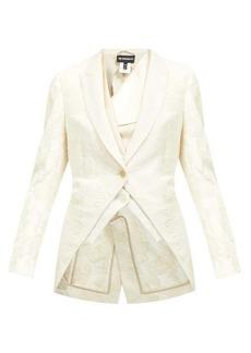 Ann Demeulemeester Floral-embellished cotton jacket