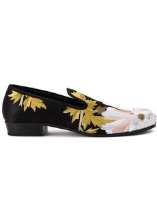 Ann Demeulemeester floral jacquard loafers - Black
