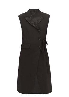 Ann Demeulemeester Floral-jacquard sleeveless blazer