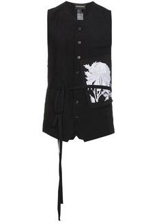 Ann Demeulemeester floral patch waistcoat - Black