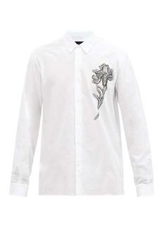 Ann Demeulemeester Floral-print cotton-canvas shirt