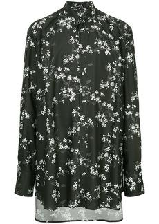 Ann Demeulemeester floral print shirt - Black