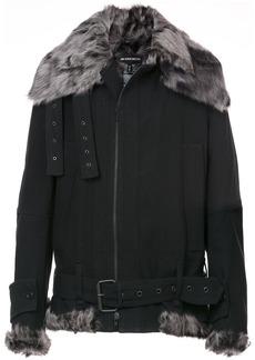 Ann Demeulemeester Fundamental shearling jacket - Black