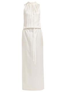 Ann Demeulemeester Gathered-neck long sleeveless dress