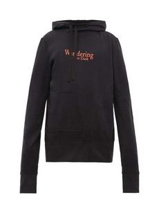 Ann Demeulemeester Grimm twisted cotton hooded sweatshirt
