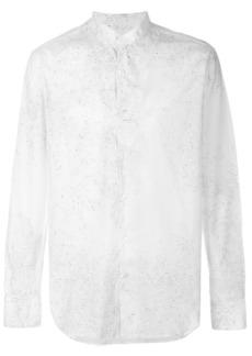 Ann Demeulemeester Grise letter print band collar shirt - White