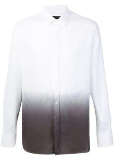 Ann Demeulemeester Grise ombre dip-dye shirt - White