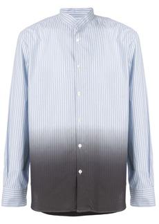 Ann Demeulemeester Icon colour gradient striped shirt - Blue