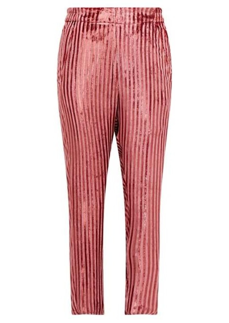 Ann Demeulemeester Illume striped velvet-lamé tapered trousers
