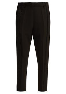 Ann Demeulemeester Jogging raw-hemmed crepe trousers
