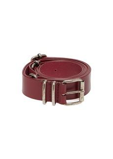 Ann Demeulemeester Kenya multiple-buckle leather belt