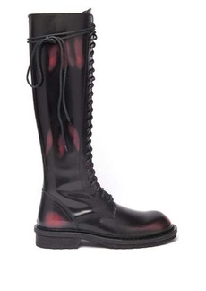 Ann Demeulemeester Knee-high distressed-leather boots