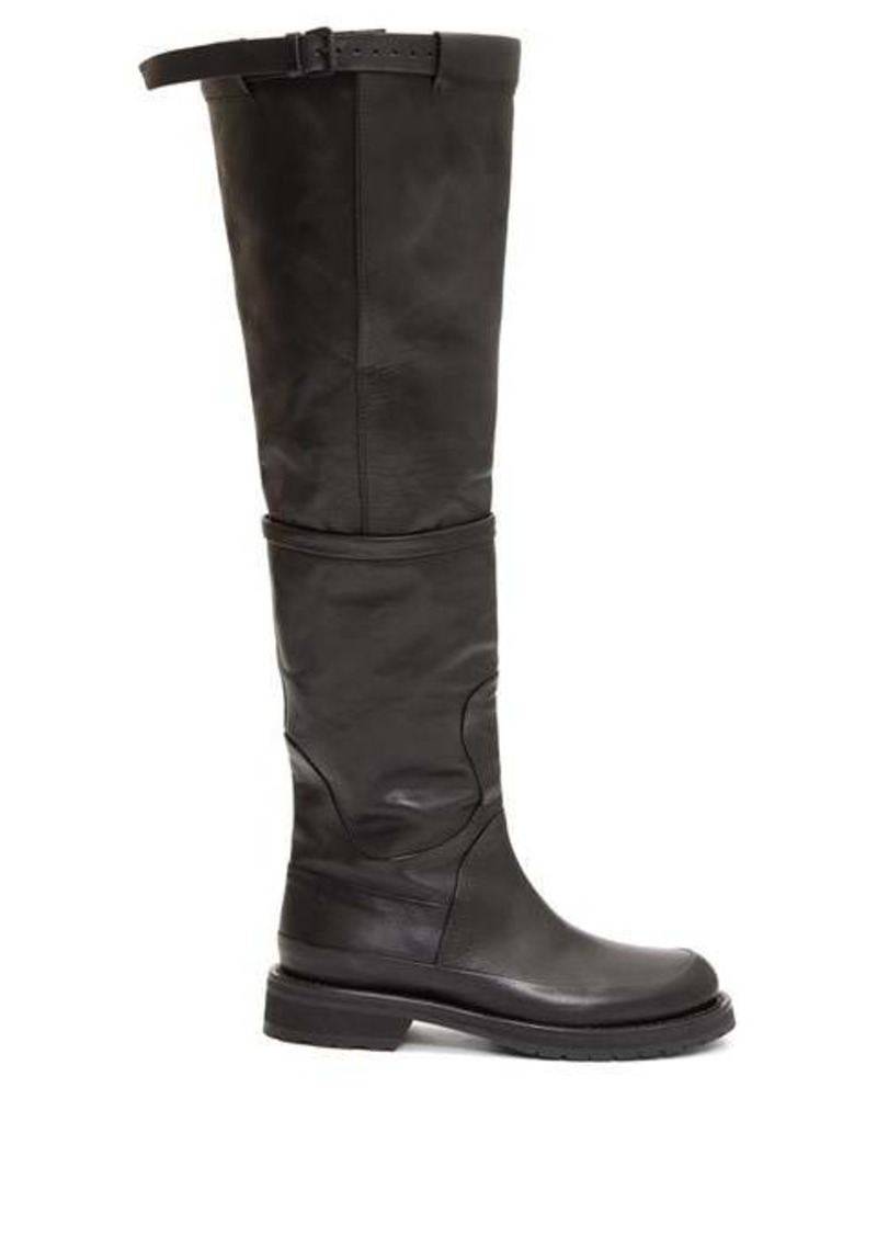 Ann Demeulemeester Knee-high leather boots