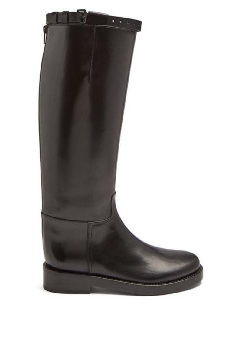 Ann Demeulemeester Knee-high leather riding boots