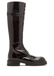 Ann Demeulemeester Knee-high polished-leather boots