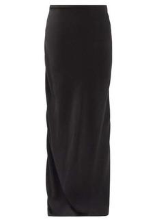 Ann Demeulemeester Kuiper low-rise satin maxi skirt