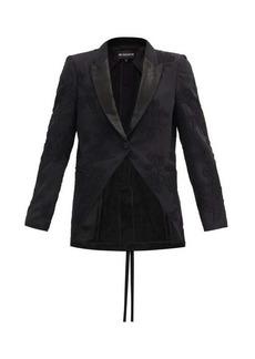 Ann Demeulemeester Lace-appliqué fleecewool-blend jacket