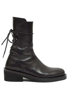 Ann Demeulemeester Lace-back leather boots