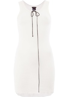 Ann Demeulemeester lace front tank - Nude & Neutrals