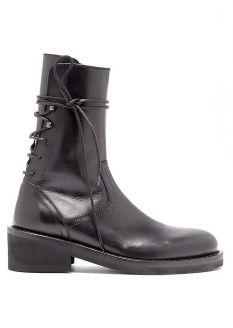 Ann Demeulemeester Lace-up back leather ankle boots
