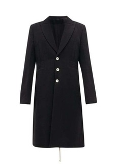Ann Demeulemeester Lace-up back wool-blend coat