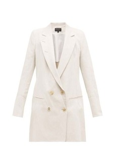 Ann Demeulemeester Lace-up double-breasted cotton-blend blazer