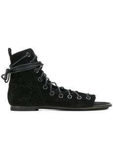 Ann Demeulemeester lace up sandals - Black