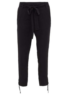 Ann Demeulemeester Laced-cuff high-rise trousers