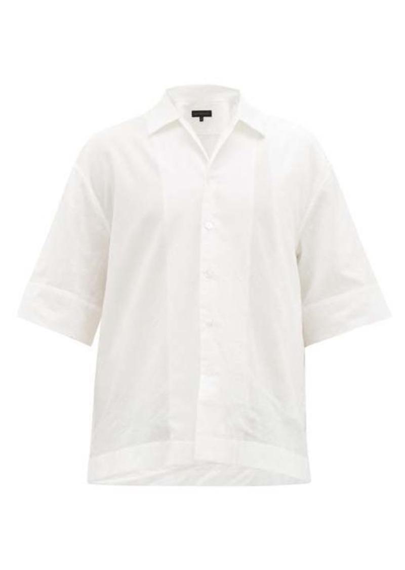 Ann Demeulemeester Layered-effect cotton-poplin shirt