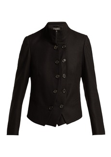 Ann Demeulemeester Layered wool military jacket